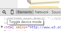 Toggle device mode
